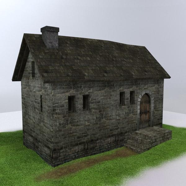 medieval building 3d max