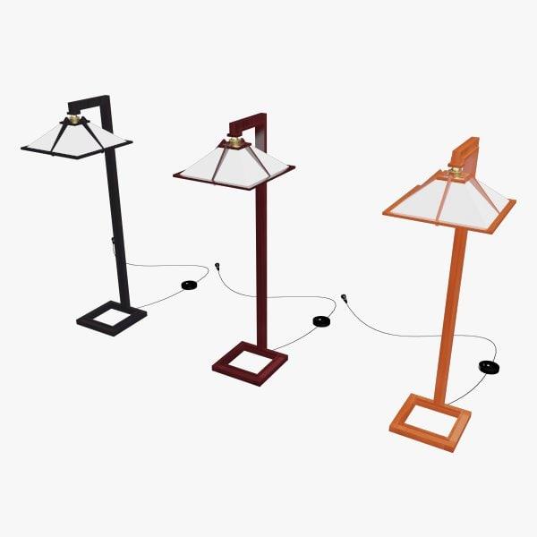 3dsmax taliesin floor lamps yamagiwa