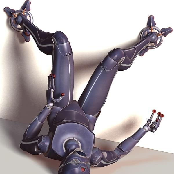 3d servoid futuristic servant
