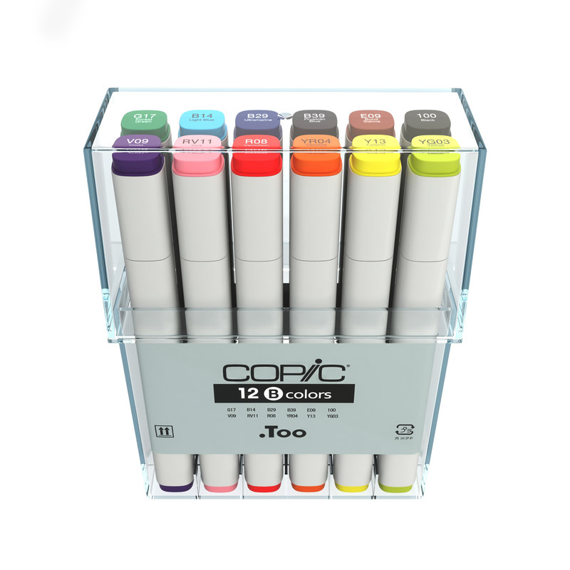 colors copic markers 3d model