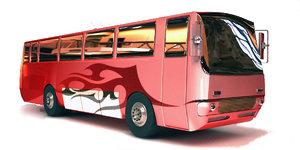 3d model realistic bus