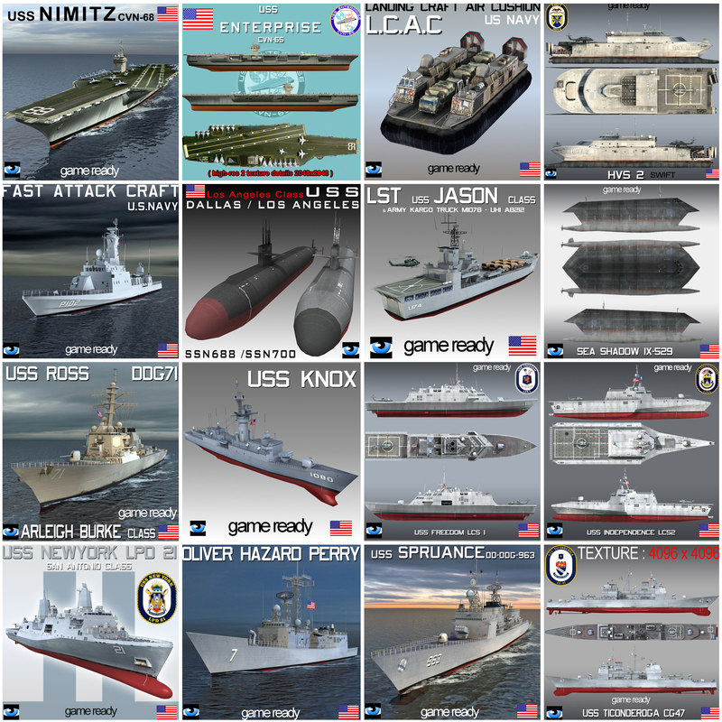 3ds uss nimitz ship navy