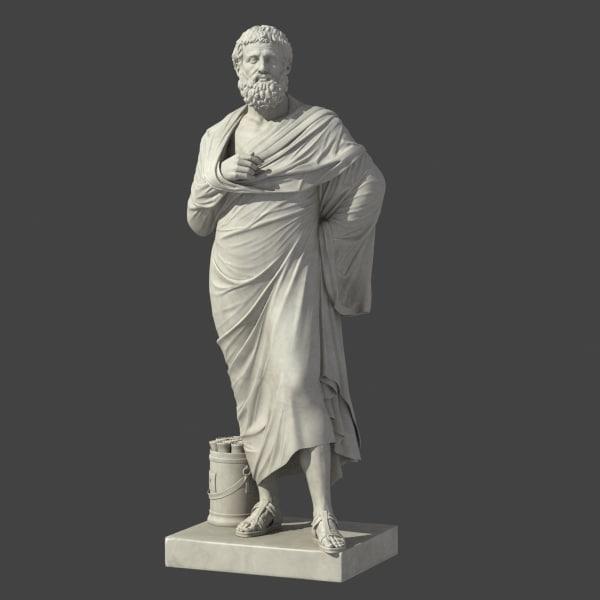 sophokles greek roman 3d model