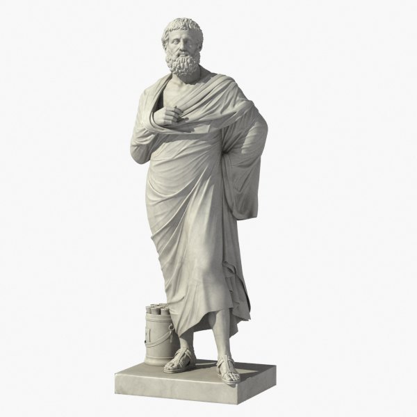 sophokles greek roman 3d model