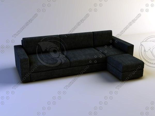 3d model sofa italian producer lester