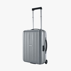 suitcase samsonite velocita upright 3d max