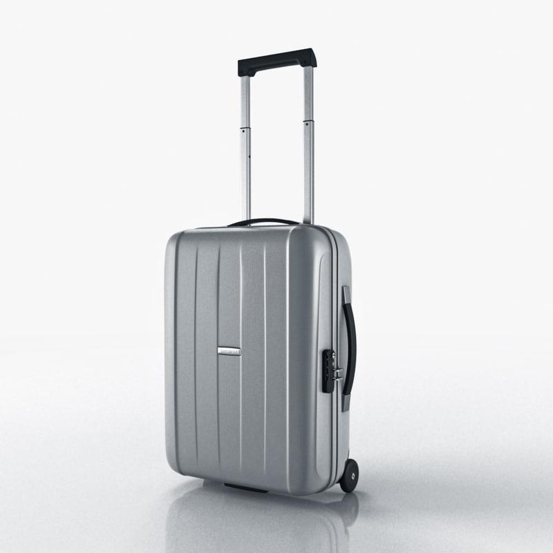 suitcase samsonite velocita upright 3d max