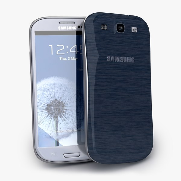 new Samsung Galaxy S3 Smartphone White and Blue collection