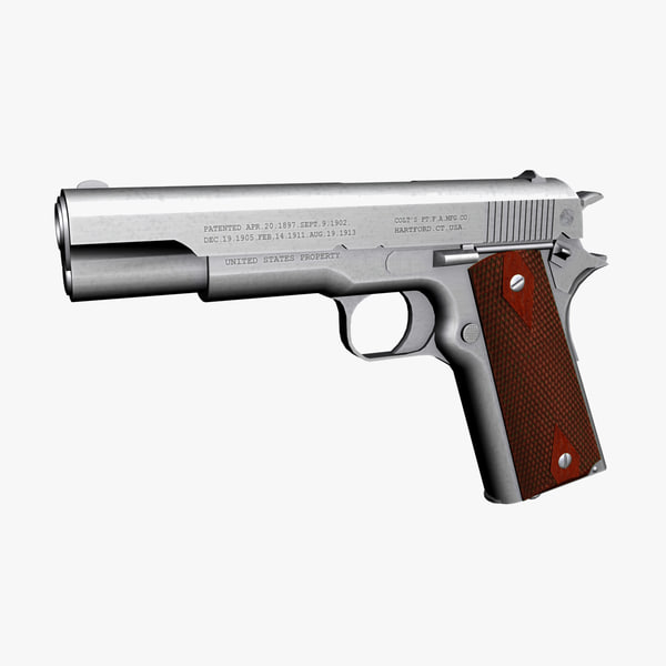 colt 1911 pistol 3d model