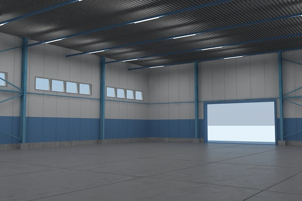 Warehouse with interior