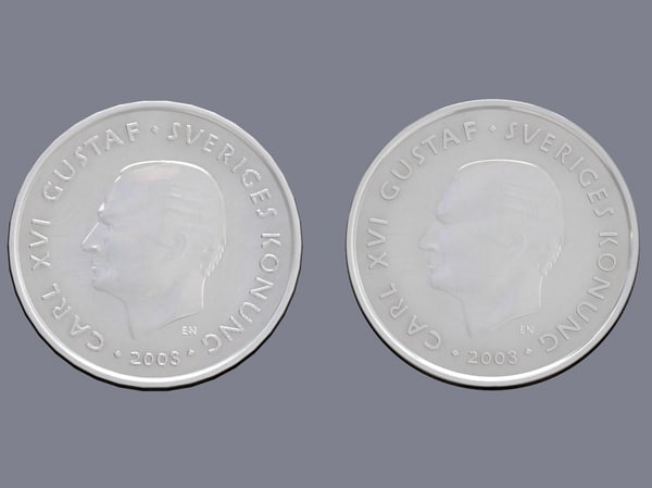 swedish crown coin 3d max