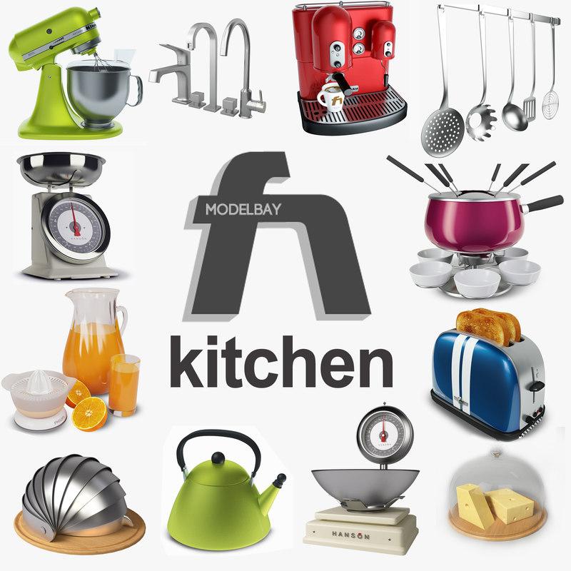 kitchen mixer scales obj