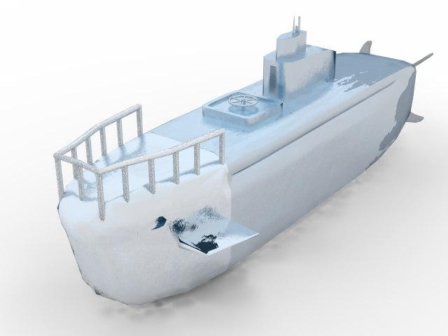 submarine fence turbine 3d model