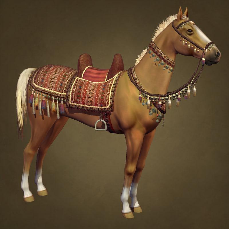 desert horse 3d model