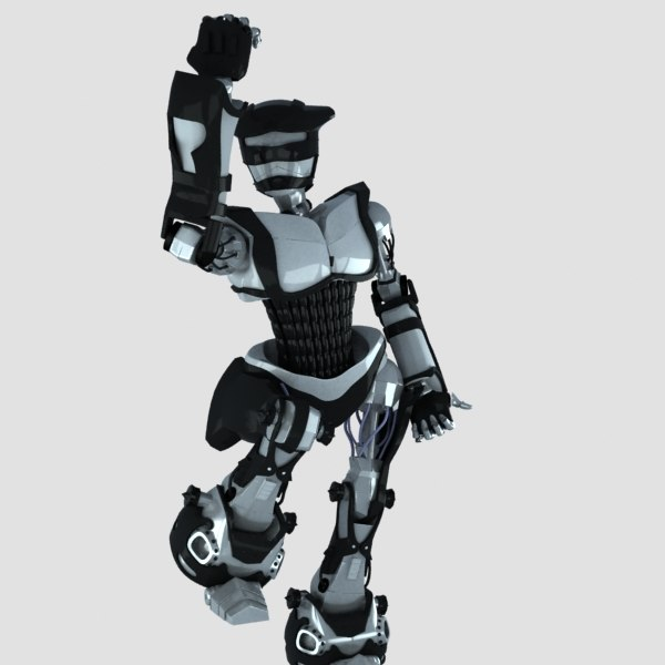 3d model robot rigged