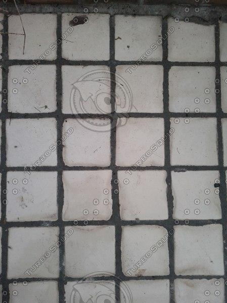 White squares floor texture