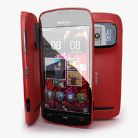 nokia 808 pureview red 3d 3ds