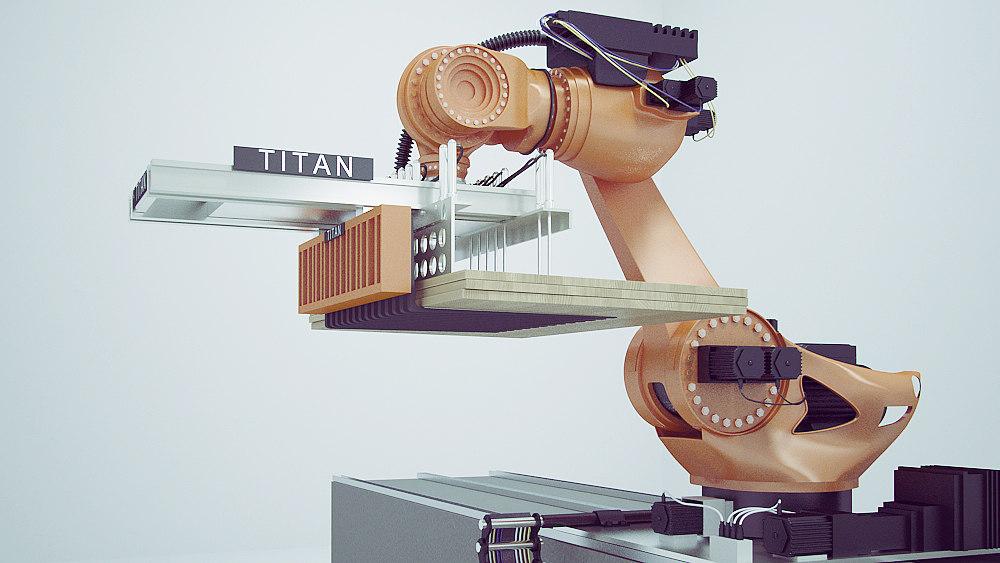 3d robot industrial model