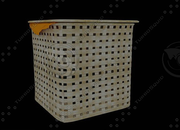 3ds max laundry basket 01