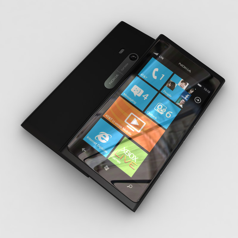 new nokia lumia 900 3d model