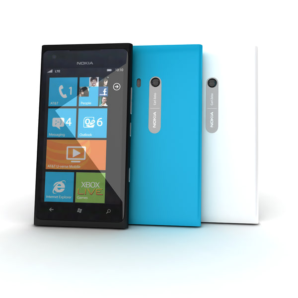 3d new nokia lumia 900 model