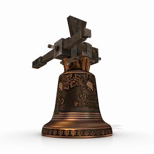 medieval church bell 3d obj