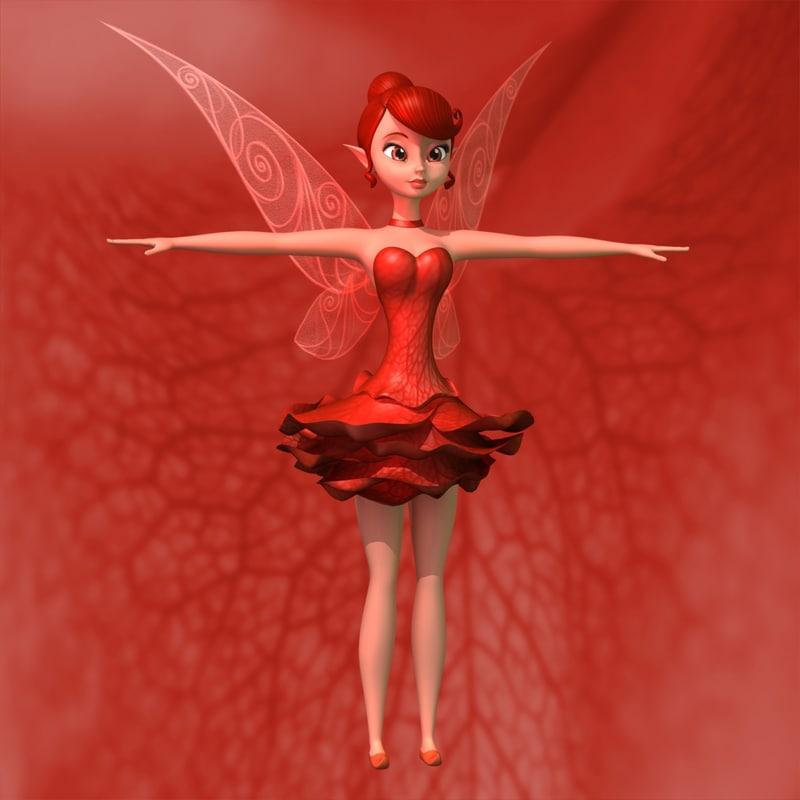 roses fairy 3d ma