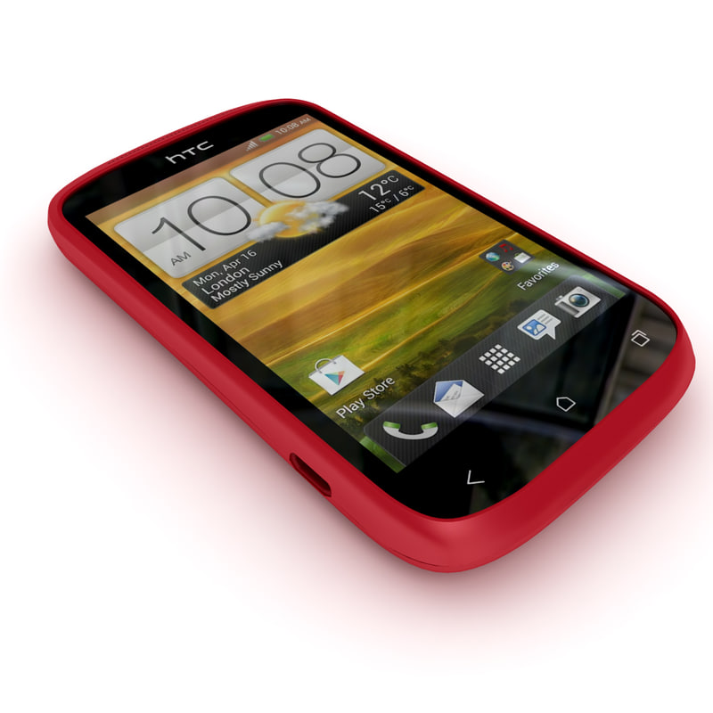 htc desire c smartphone 3d model