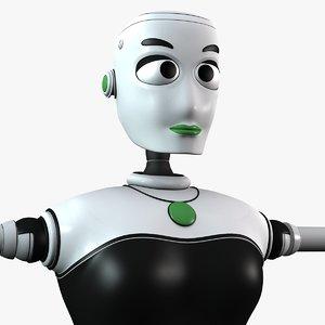 Stella Female Robot Rigged