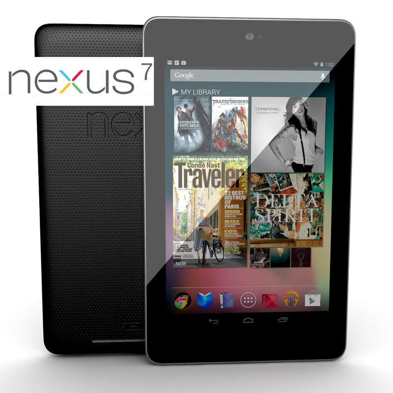 3d new google nexus 7