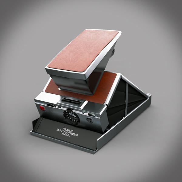 vintage polaroid camera 3d max