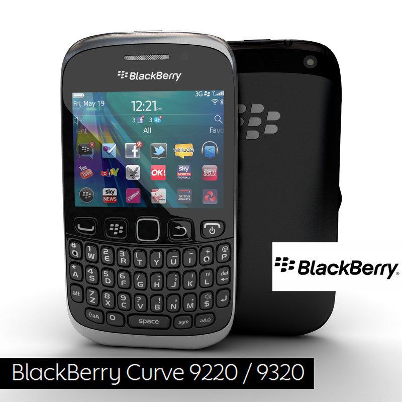 3d new blackberry curve 9320 model