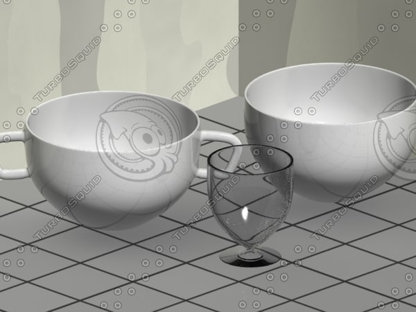 Cup, Bowl and Glass