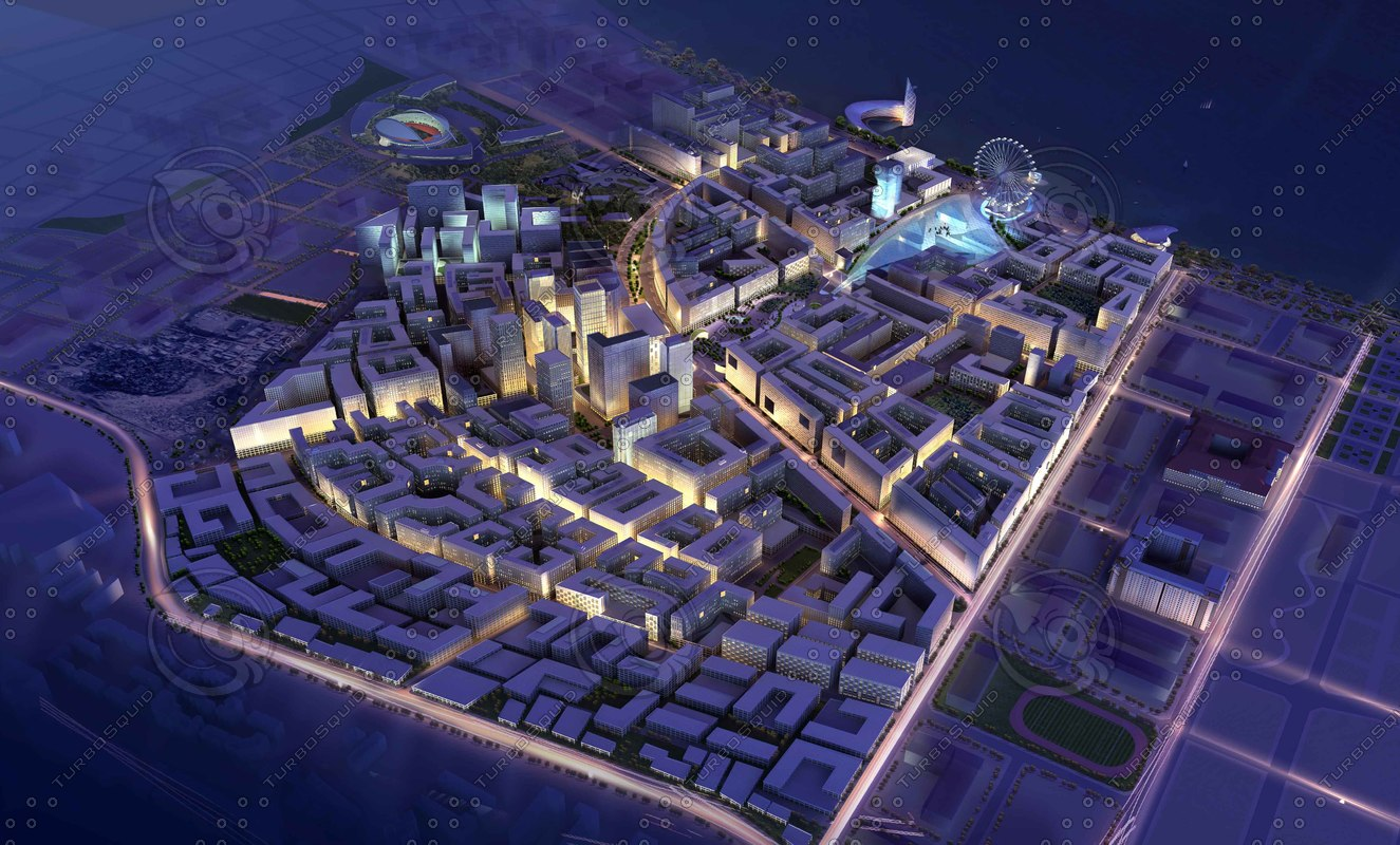 cityscape 3d max