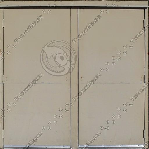 Tan Twin Doors