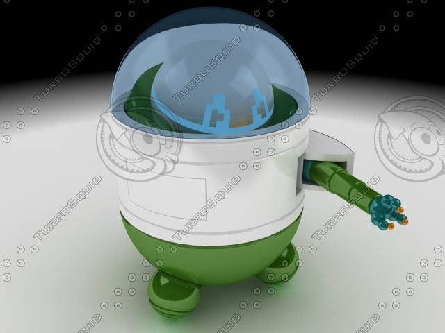 funny robot toy 3d max