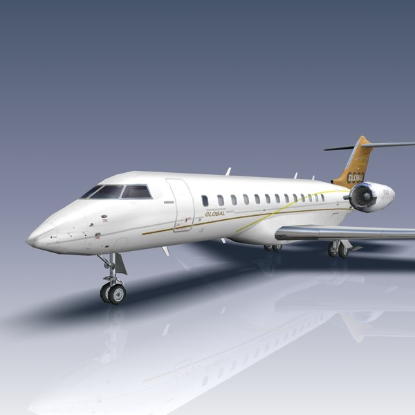 3ds max global 6000 bombardier