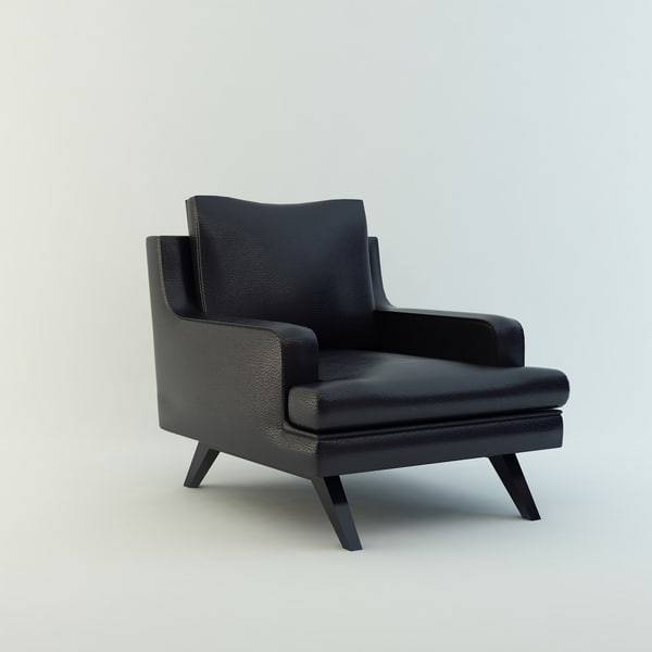 armchair leather 3d model