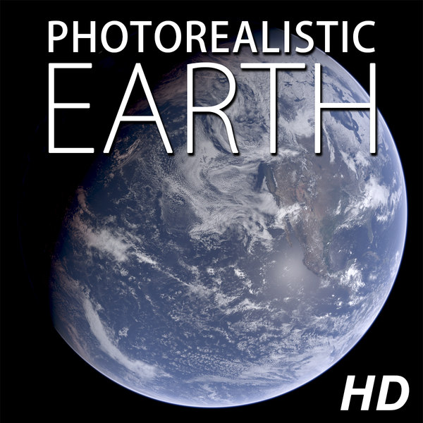 3d model of planet earth photorealistic