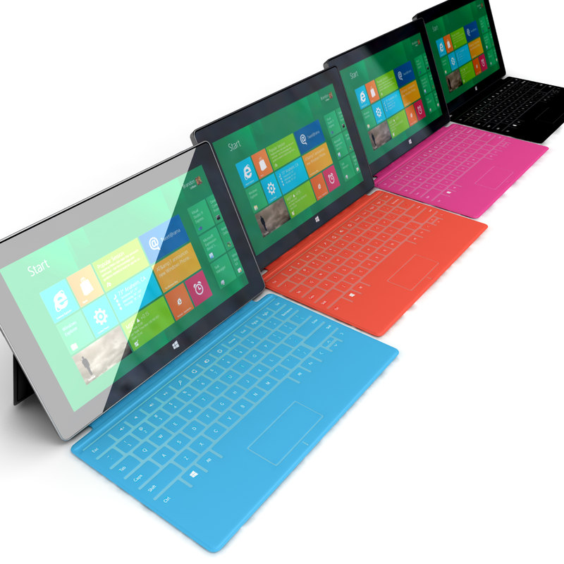 3d model tablet microsoft surface