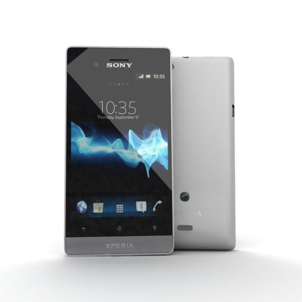 new sony xperia miro 3d model