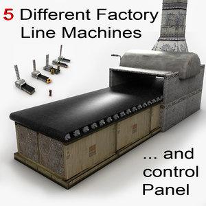 3d model machine factory