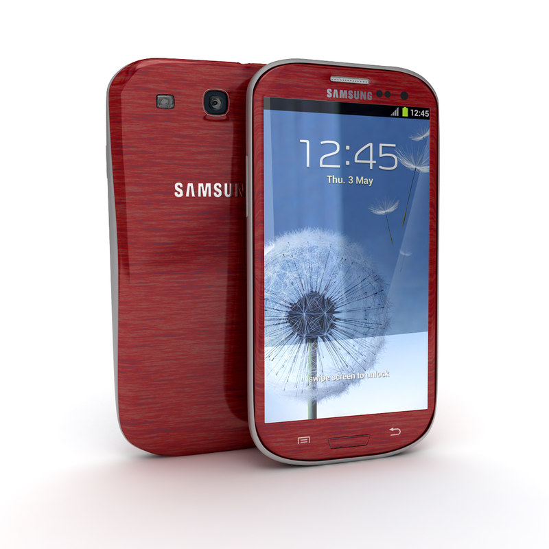 3ds max samsung galaxy s3 smartphone