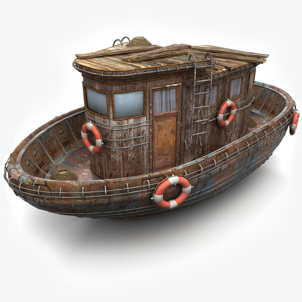 3d model of old ship