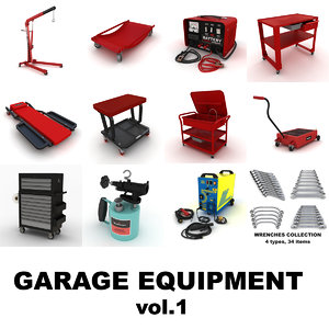 garage equipment vol 1 3d model