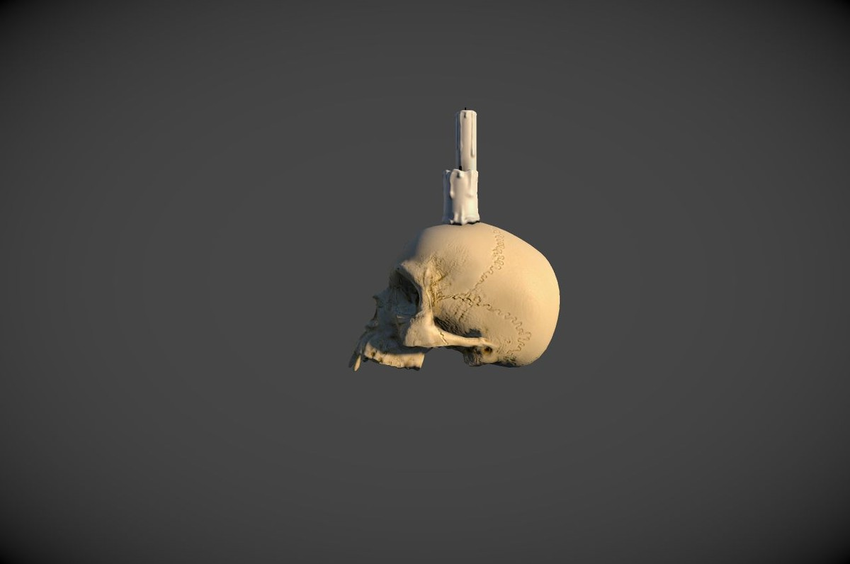3ds max skull candle