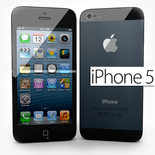 new apple iphone 5 3d model