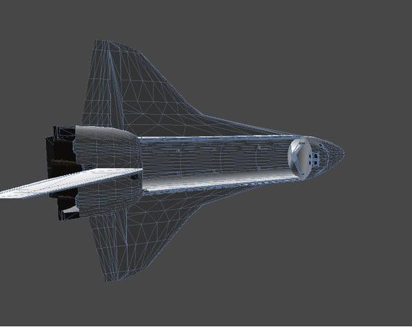 3d model hi resolution space shuttle