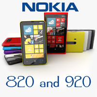 new nokia lumia 920 3d model