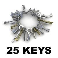 3d keys 25